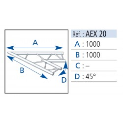 ANGLE 2 DEPARTS 45°LG 1MX1M