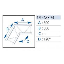 ANGLE 2 DEPARTS 120° LG 0.50X0.50M