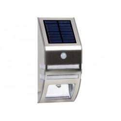 LAMPE SOLAIRE MURALE EN INOX POUR JARDIN + PIR DE 0,3W