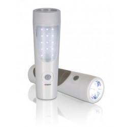 LAMPE-TORCHE RECHARGEABLE A LED AVEC CAPTEUR PIR