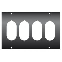 FACE AVANT DU KILT0250 POUR 4 EMBASES DOUBLES PC16 TYPE EMB/KAISER-N
