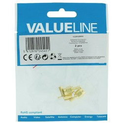 2 FICHES SMA MALE A SERTIR PLAQUEE OR POUR CABLE RG174