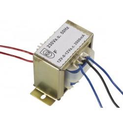 TRANSFO CHASSIS ENTREE : 230V SORTIE : 2X6V 300mA 3.6VA (80120)