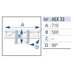ANGLE 3 DEPARTS 90°A PLAT LG 0.50X0.71M
