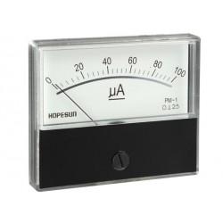 AMPEREMETRE ANALOGIQUE DE TABLEAU 100µA CC / 70X60mm (100150)
