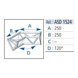 ANGLE 2 DEPARTS 120°  LG 25X25 CM