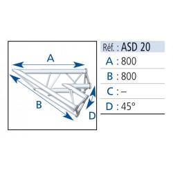 ANGLE 2 DEPARTS 45° LG 0.80X0.80 CM