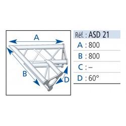 ANGLE 2 DEPARTS 60° LG 0.80X0.80 CM