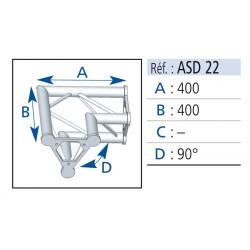 ANGLE 2 DEPARTS 90° LG 0.40X0.40 CM