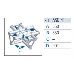 ANGLE 4 DEPARTS A PLAT 90° LG 0.55X0.55 CM