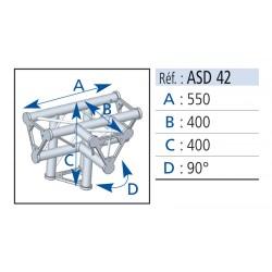ANGLE 4 DEPARTS 90° PIED LG 0.40X0.40X0.55 CM
