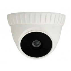 "CAMERA DOME 1/3"" INTERIEUR 500 LIGNES 12 LEDS IR BLANC"