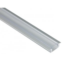 PROFILE ALU POUR FLEXIBLES LED - A ENCASTRER - 7mm X 2M