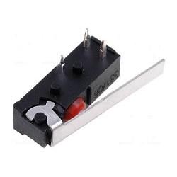 MICROCOMMUTATEUR AVEC LEVIER COTE SPDT 1A/250VAC ON-(ON) IP54 (6080)