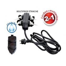 RALLONGE ELECTRIQUE 3 METRES 3G1.5 H07RNF AVEC MULTIPRISE 4 VOIES ETANCHES