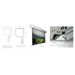 ECRAN DE PROJECTION ELECTRIQUE 16/9 BLANC MAT 500X281cm ORAY