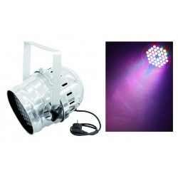 PROJECTEUR PAR64 DMX RGB CHROME 36X3W