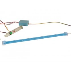 BARRE 12 LED + ALIMENTATION 12VCC - LUMIERE BLEUE
