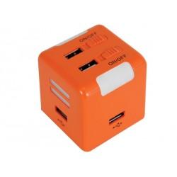 HUB USB 2.0 - 4 PORTS - 1 ENTRÉE MICRO - 1 SORTIE CASQUE