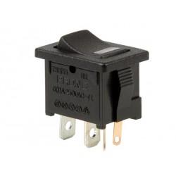 INTERRUPTEUR A BASCULE 5A-250V SPST ON-OFF - AVEC LED ROUGE (6080)