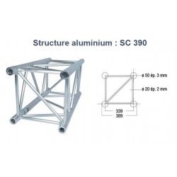 STRUCTURE ALU CARREE 390mm 0.25 METRE SC390 ASD