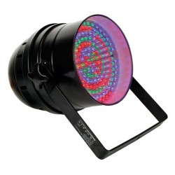 PROJECTEUR LED PAR64 COURT NOIR DMX - 183 x LEDs 10mm