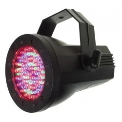 PAR36 PLASTIQUE DMX 76 LED DE 5mm
