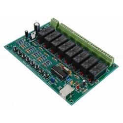 CARTE-RELAIS USB À 8 CANAUX