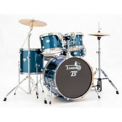 "BATTERIE ACCOUSTIQUE FUSION 20"" BLUE SPARKLE TAMBURO"