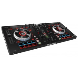 INTERFACE DJ MIXTRACK PLATINUM NUMARK 4 VOIES + 16 PADS + CARTE SON + ECRAN